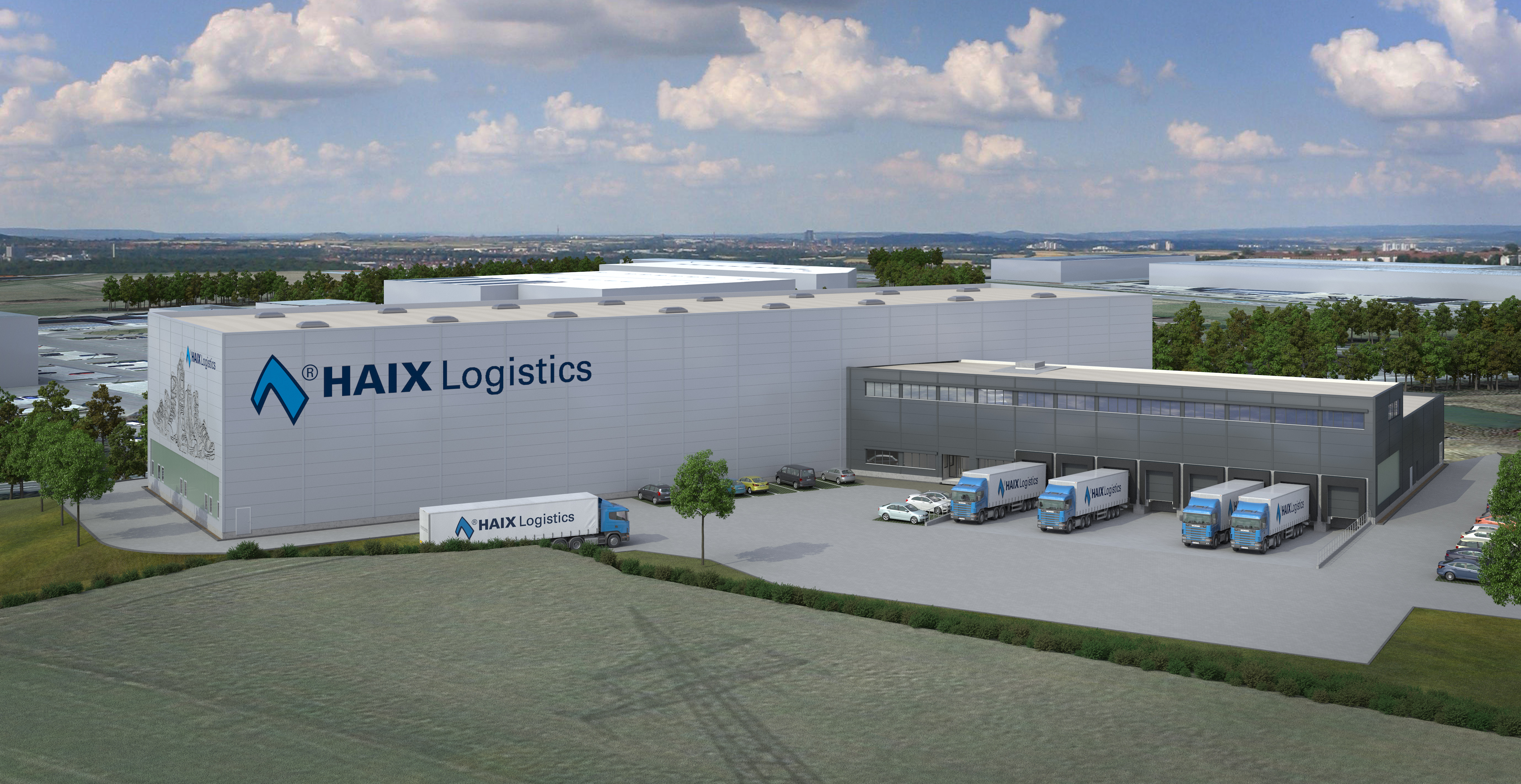 Visualisierung neues Logistikzentrum HAIX